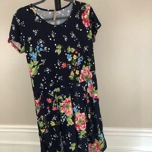 Women's PAOLINO Black Dress Floral Flowers Size XL